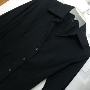 Express studio fitted wide cuff stretch shirt
